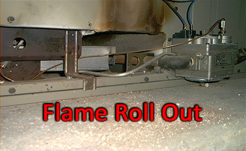 Fullerton heating and air conditioning. A flame roll out found during a heater tune up inspection