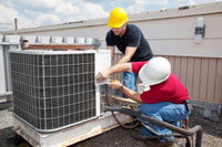 Roof top air conditioning service. Freon leak finding, leak detection